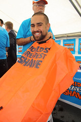Bobby Carlile mid-shave (Port Adelaide Football Club) Tags: worlds shave greatest 2011
