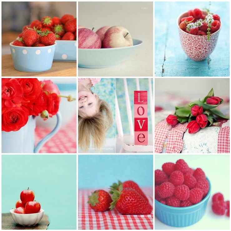 Things i ♥ Thursdays .- Red & Blue ♥