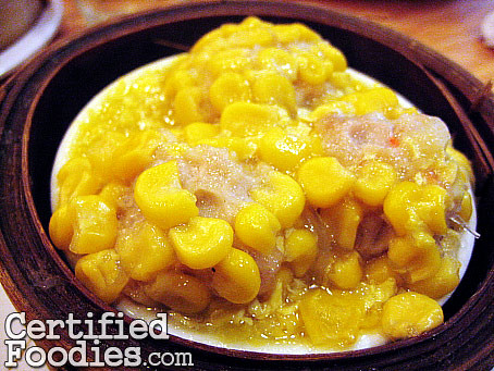 Golden Fortune's Corn Siomai, Php 70 for 3 pieces - CertifiedFoodies.com
