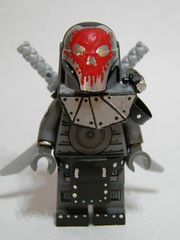 Apocalypse Swordsman (~Amadgunslinger~) Tags: soldier lego mask fig apocalypse mini gas sculpey minifig custom wasteland swordsman brickarms brickforge apocalego