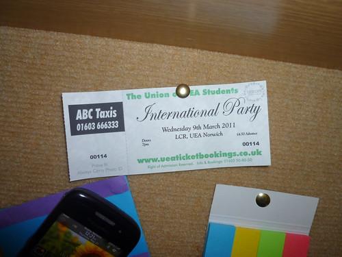 International Party Ticket