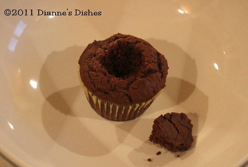 Glorious Chocolate Cream Filled Cupcakes: Cork Removed