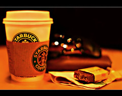 - starbucks - (ll.dyala.ll) Tags: camera coffee sunglasses canon 50mm bokeh chocolate starbucks  500d  dyala