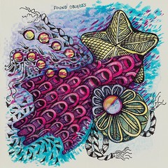 Found Objects or Starfish and the Sunken Treasure (molossus, who says Life Imitates Doodles) Tags: art zia tangle zentangle zendoodle zentangleinspiredart journalhandbook