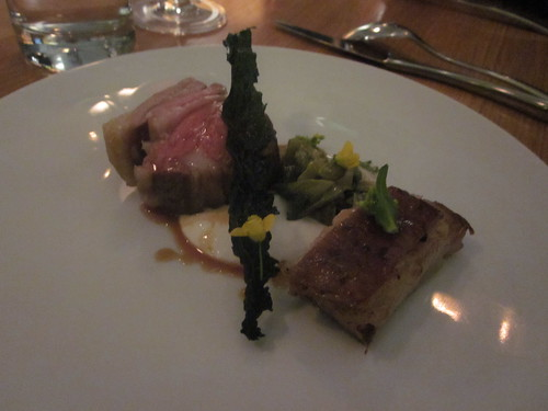 Commis - Oakland - January 2011 - Slow Cooked Lamb with Horseradish Yogurt, Quince and Winter Greens