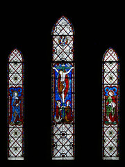 West window - Avon Dassett  John Hardman stained glass