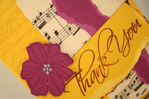 Thank you vintage floral