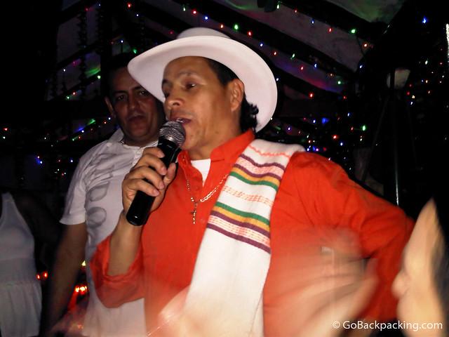 Singer at La Tienda