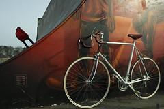 """My """"new"""" bike (Mirovich) Tags: red white bike denmark racing rd roskilde suede racer hvid sadle sadel supermirage ruskind gedebukkestyr cykel1985"""