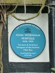 Photo of John Wornham Penfold blue plaque