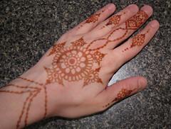 Henna on my hand