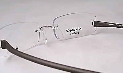 Titanium Grey Rimless Eyeglass Glasses Frame Rubber Ear eBay