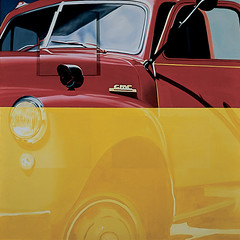 James Rosenquist, Broome Street Trucks After Herman Melville, 1963 (kraftgenie) Tags: usa car rosenquist