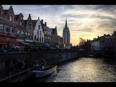Sunset over Brugge (Kaj Bjurman) Tags: sunset water buildings eos belgium brugge 5d hdr kaj brygge photomatix bjurman