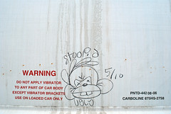 stoopid ugly (Killer Times) Tags: railroad cloud records art up car brad bar work graffiti monkey virginia chalk smash bars cunt pastel tags spray wash presents killer ugly oil writer worker times boxcar xxx streaks stinger zeke hobo freight stoopid wallride conrail twitty smashup monikers moniker warsh stackabones killertimes retribulize carwashcunt carwarshcunt