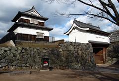 Shiomi Yagura & Shimonohashi Ote-mon (jpellgen) Tags: winter castle japan japanese nikon asia december  nippon samurai fukuoka nikkor nihon kyushu 2010 seki bushi   hakata maizuru d40 fukuokajo