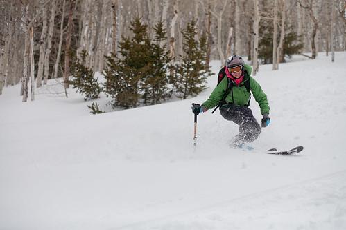 tele skiin'