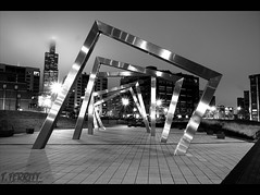 Adams-Sangamon Park (Tommy6unz) Tags: longexposure nightphotography bw chicago wet monochrome night magazine dark evening nikon cloudy awesome tripod late redeye raining gapersblock wbez chicagoist explorechicago d5000 1685mm thelocaltourist