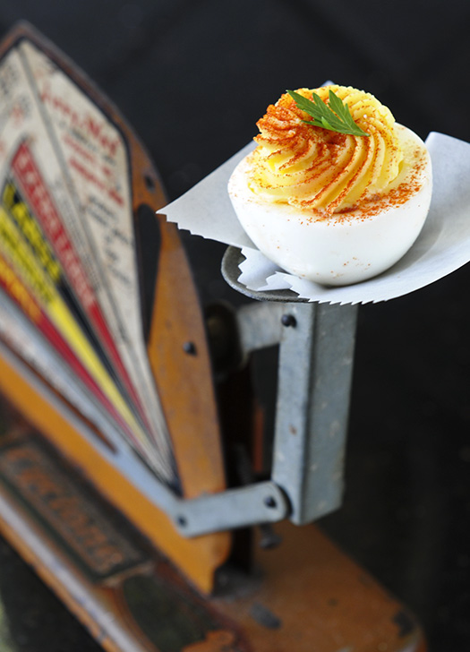 deviled egg with egg scale reduced
