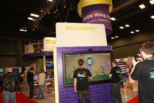 Monster.com Booth at SXSW Interactive 2011
