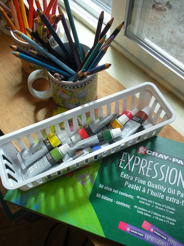 Art Supplies - acrylics and cray-pas