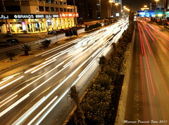 Riyadh alive ! (mauriziopani) Tags: city cars lines night lights moving traffic fast nightlife riyadh