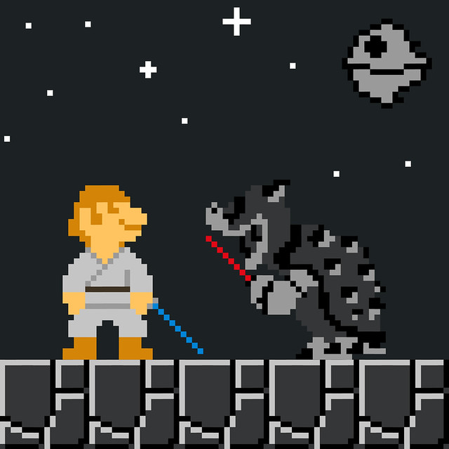 super star wars bros