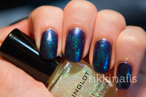 Inglot 203 over Spa Ritual Health, Wealth & Happiness