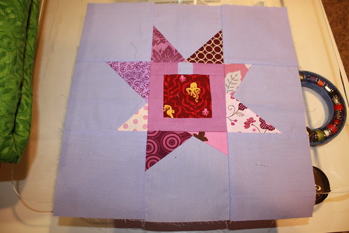 A Dozen Quilters - April Wonky Star blocks