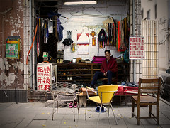 Cobbler (Michael Steverson) Tags: china street shop canon stall chinadigitaltimes cobbler shoerepair guangxi liuzhou ef2470f28l 5dmarkii