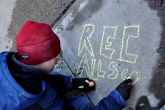 Rec-all Scott (kiramke) Tags: street art wisconsin chalk budget protest capitol walker madison repair rights recall fab14