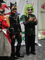 WonderCon 2011 Masquerade - Scoundrel Mites (kid DC villains - Catwoman and Joker) (Doug Kline) Tags: sanfrancisco kids comics dc costume cosplay convention winner joker masquerade annual 25th moscone catwoman riddler poiso