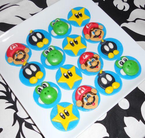 30 Super Mario Cupcake Toppers Shipped to Alpharetta, GA