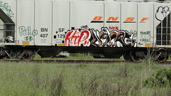 KEEP VELCRO (TrackSideLife) Tags: train graffiti und ups keep velcro freight mfk undk upsk