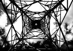 (charge) (Dinasty_Oomae) Tags: leica leicaiiia leica3a  iiia 3a   blackandwhite blackwhite monochrome bw outdoor   chiba  nagareyama  cloud  utilitywire wire  utilitytower tower