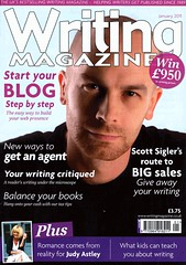 Scott on the cover of Writing Magzine
