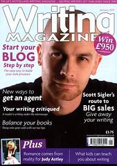 Scott on the cover of Writing Magzine