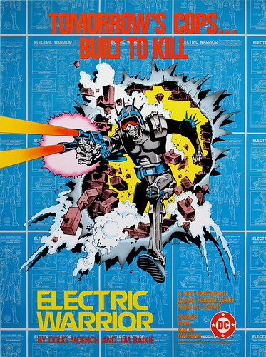 DC Comics promotional poster - Electric Warrior - 1985