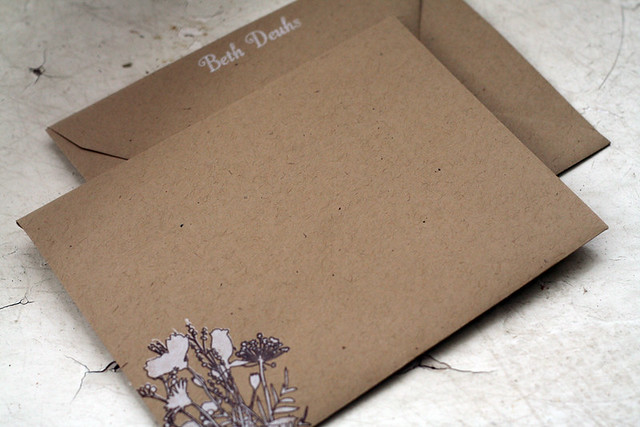 Custom Stationery: Envelope Front & Back