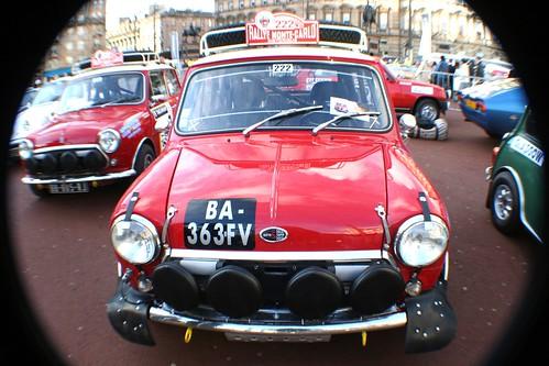 Classic Mini Car at George Square, Glasgow