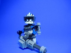 Gunner (jestin pern) Tags: blue fiction trooper star lego space arc science fi wars clone gunner sci minigun chaingun z6