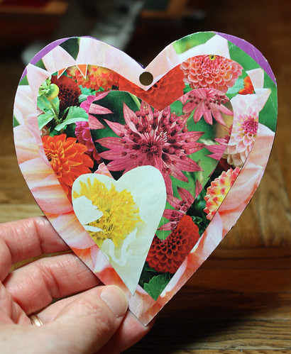 Flower heart valentine (side 1)