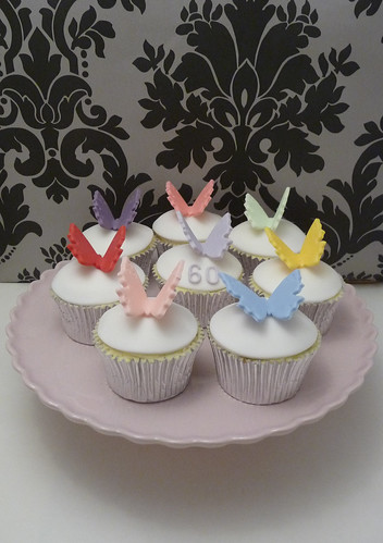 Multi-Coloured Butterfly Cupcakes