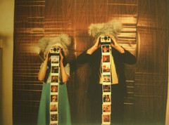 Point and Shoot (Tanner Almon) Tags: wood film brooklyn polaroid costume fuji apartment mini instant tanner furball almon whimsical instax woodpanel furballs instantfilm cheki fujiinstaxmini tanneralmon checki55 mymomreviewsmyphotos