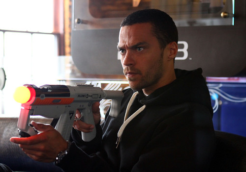 Actor Jesse Williams in PlayStation Green Room