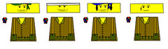 UPR regulars. (Gryphron) Tags: is cool lego tan tags pack decal scar bandage bandanna upr gryphron
