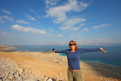 Israel - Life at the Dead Sea (lovemyblackcat) Tags: blue sea smile landscape israel desert viewpoint  deadsea