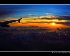 Sunrise from 30,000 ft. ($) Tags: sky nature clouds sunrise inflight sunburst richcolors lsp11photography