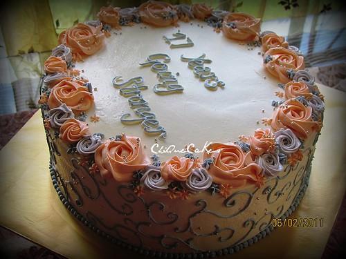17th Anniversary Cake