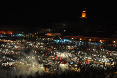 Marrakech, Djemaa el Fna at night (Orion1611) Tags: trip travel vacation holiday square photo nikon nightshot morocco marrakech djemaaelfna d5000 orion1611 gerardruiters